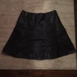 Ann Taylor Faux black leather skirt
